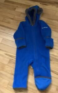 Columbia Infant Fleece Snowsuit Blue W Bear ears!