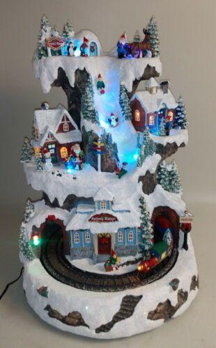 Christmas Village Animated Santa
