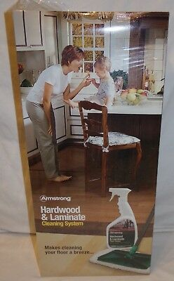 Armstrong Hardwood & Laminate Cleaning System New Sealed Spray Cleaner w/ Mop