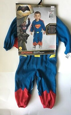 Superman Costume Toddler (Superman Child Toddler Halloween Costume NEW 1-2 Years Romper Cape)
