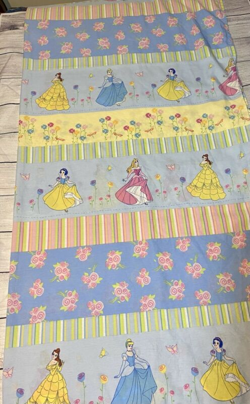 Vintage Disney Home Princess Twin Flat Sheet - Made in the USA, Snow White Belle