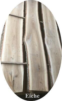 Eiche Natur Holz (Eiche - Baumscheibe, Holzscheibe  Bohle Brett Scheibe edles Holz naturbelassen)