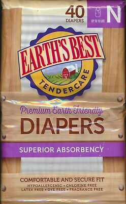 Earth's Best TenderCare Chlorine-Free Disposable Baby Diapers: Newborn