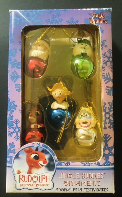 Rudolph The Red- Nosed Reindeer Jingle Buddies 5 Ornaments Boxed set