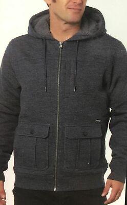 O'neill Men's Full Zip Hooded Fleece Sweatshirt Jacket Navy -