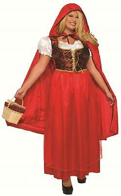 Classic Red Riding Hood Dress and Cape Adult Costume Plus Size Adult Classic Red Riding Hood