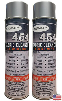 QTY2 Polymat 454 MATTRESS AND FABRIC CLEANER & STAIN REMOVER FOR HOME 19OZ CAN