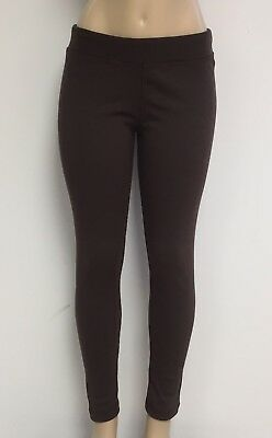 Cotton Spandex Knit Pants - Ladies Cotton Spandex Rib Knit Legging Pant Sizes S-M-L-XL Color Chocolate NWT