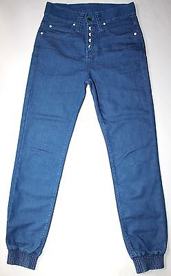 Humor Button Fly Delzu Joggers Jeans Tapered Ankles 30 X 30 5 Awesome Euc