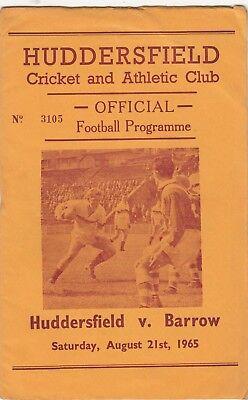 Huddersfield v Barrow 1965/6 (21 Aug)