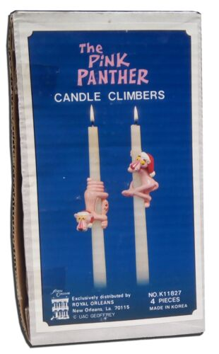 1981 Pink Panther Candle Climbers Taper Decorations United Artists Royal Orleans