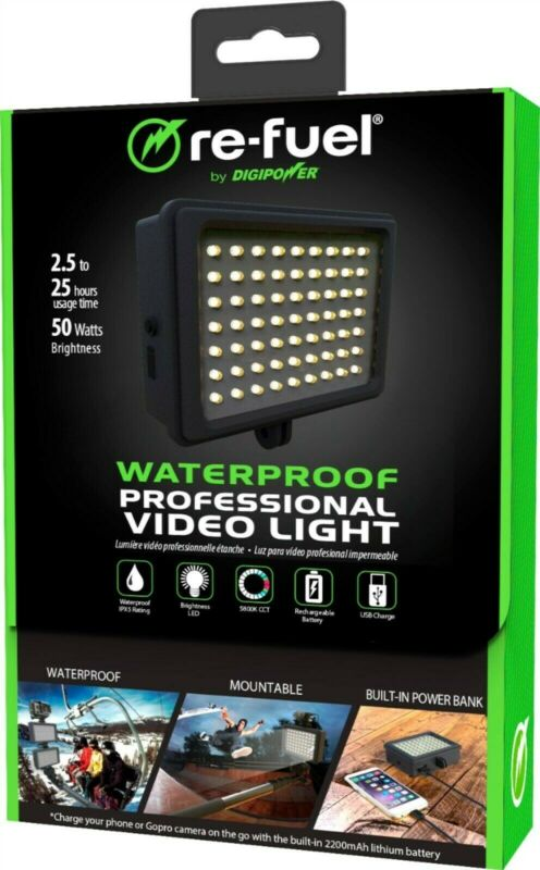 Digipower - Water-resistant Professional Video Light with Built-in Power Bank