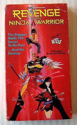 Revenge of the Ninja Warrior ~ VHS Movie ~ 1985 Anime ~ Rare Just For Kids Video - Ninja Movies For Kids