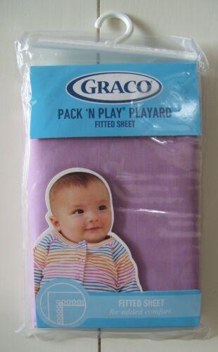 Graco Pack N Play Playard Lavender Mist Fitted Sheet