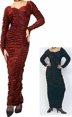 Black or Burgundy Adult Gothic COFFIN DRESS Vampire Halloween costume Cosplay - Gothic Vampire Costume