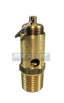 50 Psi Safety Relief Pop Off Valve For Air Compressor Tank Release 12 Npt