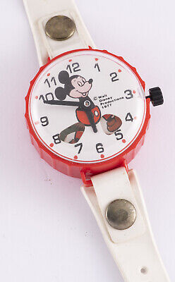 VINTAGE WALT DISNEY 1977 MICKEY MOUSE CHILD'S DURHAM BRANDED WATCH Taiwan