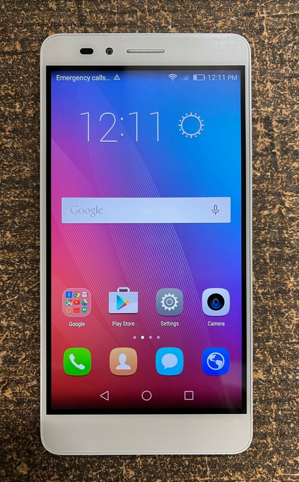 """Android Phone - Huawei Honor 5X 4G LTE Android 5.5"""" Dual-SIM 16GB Unlocked Smartphone White"""