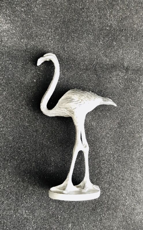 Solid Pewter Flamingo Bird Florida Pink Figurine Statue F