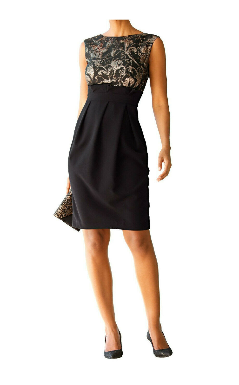super quality big sale official supplier Details zu Amy Vermont Kleid mit Jacquardmuster, schwarz. NEU!!! KP 159,99  € SALE%%%