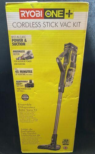 Ryobi P7181K 18V One+ Cordless Stick Vac Kit