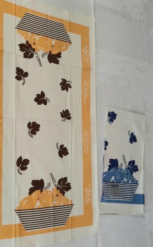 Vtg Linen Cannnon Towels 2 Kitchen