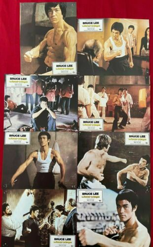 Bruce Lee 1972 Chuck Norris Way of the dragon lobby card set original