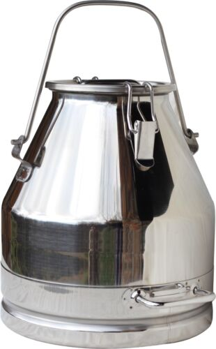 5 Gal. Milk Can Tote, Stainless Steel 20 Qt. Heavy Duty; Sealed Lid (New)