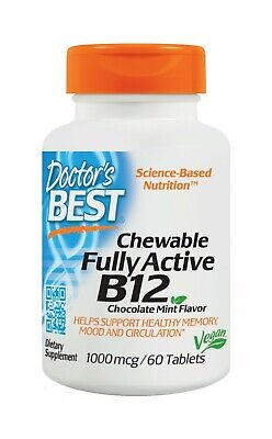 Doctor's Best Chewable Fully Active B12 1000 mcg 60
