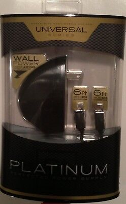 Seidio Platinum Two Port W/6FT Cables Micro-USB Wall Charger Motorola Droid Maxx
