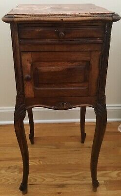 Antique Side Table with Marble (Antique Side Table)