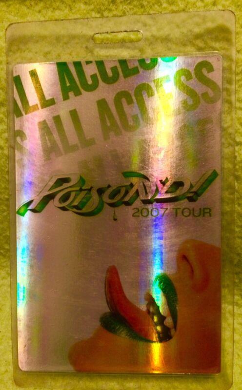 Bret Michaels Poison Tour  Backstage Laminate Pass Concert Rock Of Love