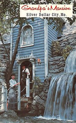 Grandpa's Mansion Silver Dollar City Theme Park  Branson,MO Vtg Chrome Postcard