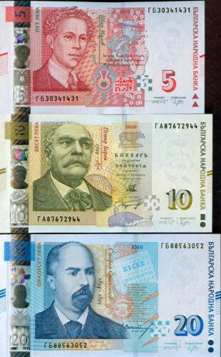 BULGARIA - 5 - 10 - 20  Leva NEW issue 2020 - UNC