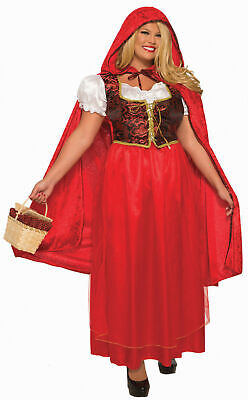 Little Red Riding Hood Adult Womens Costume PLUS Size NEW Dress Hooded Cape](Little Red Riding Hood Costume Plus Size)
