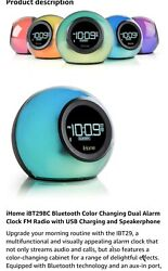 iHome iBT29  Bluetooth Alarm Clock Radio and Color Changing Wireless Speaker New