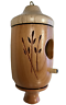 Wooden Hummingbird House Light Wood Top Hand Crafted in America