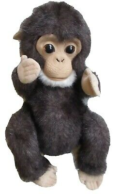 "FurReal Friends Newborn Baby Chimp Monkey Animated Plush Monkey 8"" Furreal WORKS"