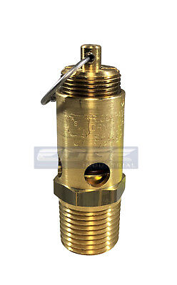 125 Psi Safety Relief Pop Off Valve For Air Compressor Tank Release 12 Npt