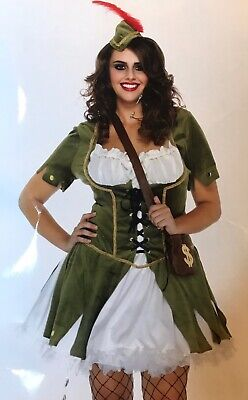 Leg Avenue Sexy Thief of Hearts Robin Hood Costume adult Plus