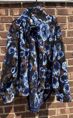 Martine Rose Napa Blue Floral Fleece Jacket Size L