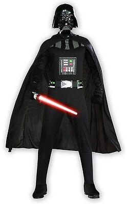 Adults Men's Classic Star Wars Dark Lord Darth Vader Villain Costume Large