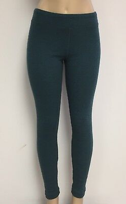 Cotton Spandex Knit Pants - Ladies Cotton Spandex Rib Knit Legging Pant Sizes S-M-L-XL Color Denim Teal NWT