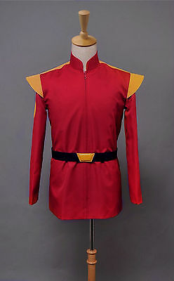 Sitcom Futurama Captain Zapp Brannigan Red Uniform Cosplay Costume Tailored - Zapp Brannigan Costume