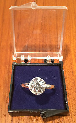 Vintage Vending Machine NOS Faux Diamond Adjustable Toy Engagement Ring NIB