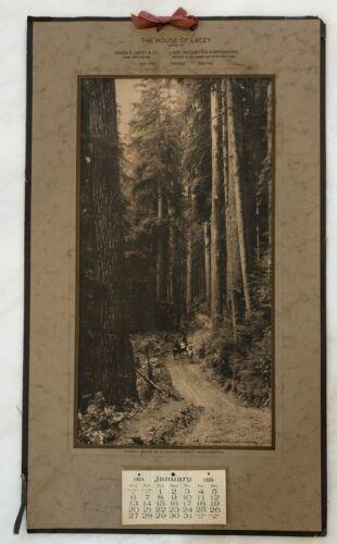 1924 CLALLAM County Washington LACEY LUMBER Calendar Print ANTIQUE Original
