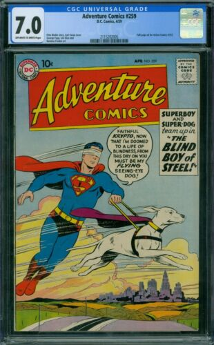 Adventure Comics 259 CGC 7.0 - OW/W Pages