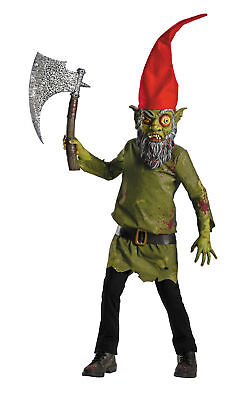 Wicked Troll Child Costume Hat Evil Garden Gnome Halloween Fancy Dress - Evil Garden Gnome