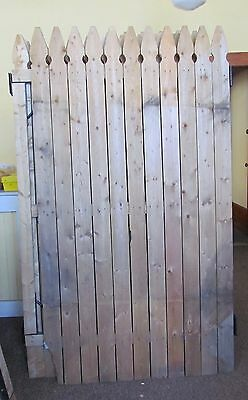 LOT OF 37 WOOD FENCE PANELS 6 FT TALL, FRENCH GOTIC / USED  PICKUP NANTICOKE, PA