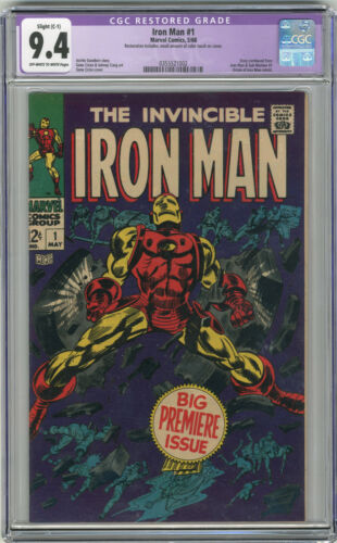 1968 Iron Man 1 CGC 9.4 Restored